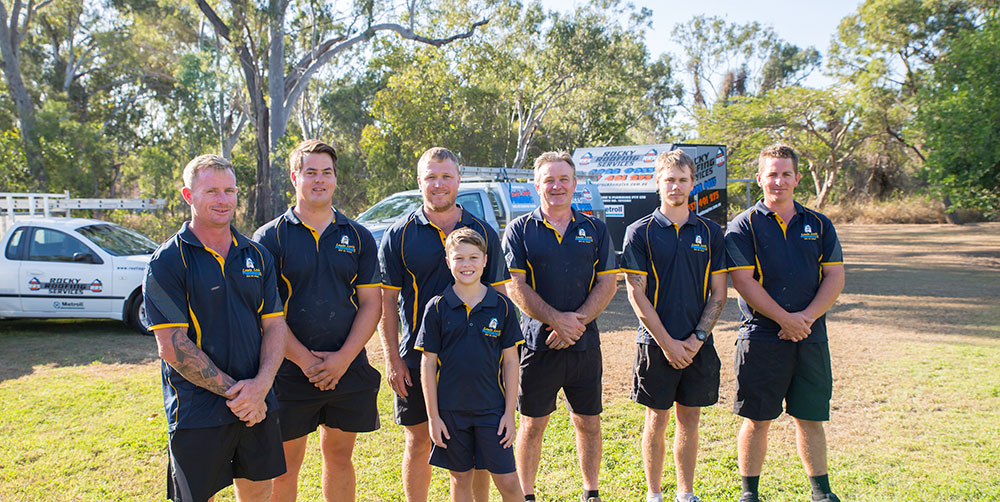 Lewie Loos plumbing and roofing rockhampton team photo