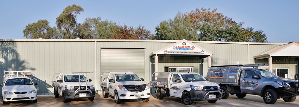 Lewie Loos plumbing and roofing rockhampton vehicles and workshop photo
